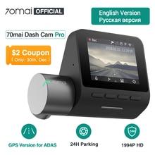 70mai Dash Cam Pro английское Голосовое управление 1944P 70MAI Автомобильный видеорегистратор Камера gps ADAS 140FOV ночного видения 24H монитор парковки
