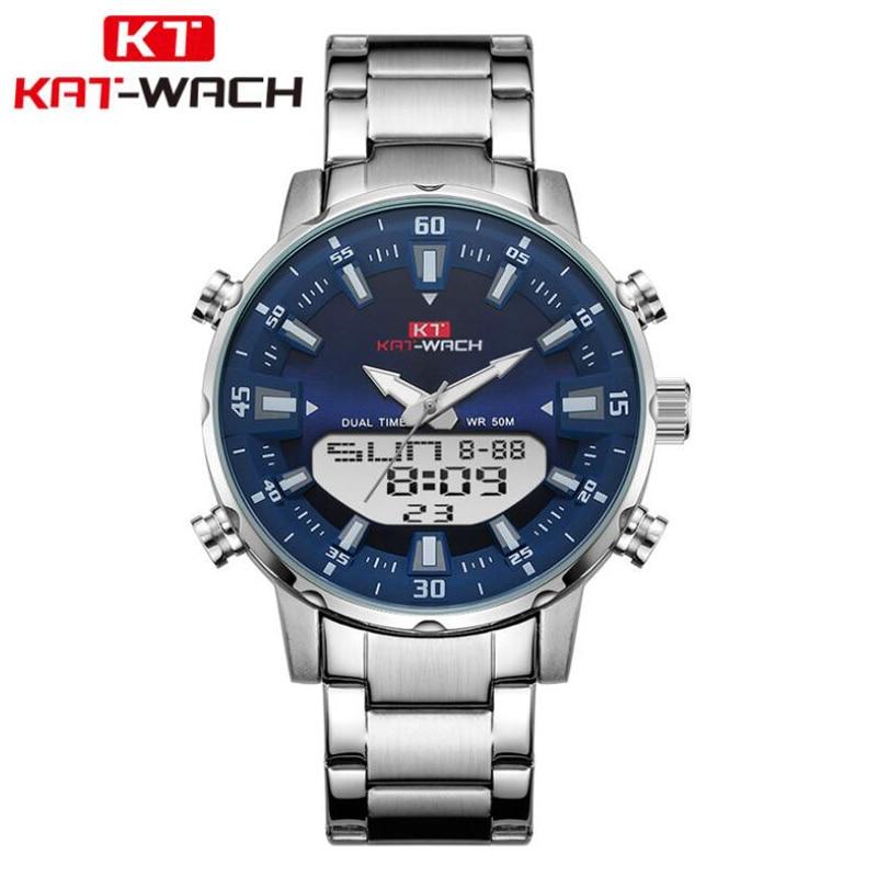 Watch Double Display Quartz Watches Sports Top Brand Luxury Men's Waterproof 50M Watches Male Wristwatch Relogio Masculino(China)