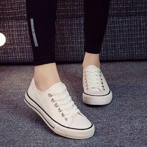 Image 4 - SJJH 女性キャンバススニーカー快適なカップルの靴レディースシューズ D003