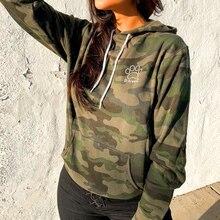 Women Long Sleeve Pullover Hooded Camouflage printed Sweatshirt Casual Winter hoody hoodies sweatshirt for women plus size D30