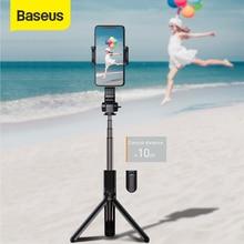 Baseus عصا سيلفي بلوتوث ، كاميرا فيديو صغيرة ، حامل ثلاثي القوائم لاسلكي ، حامل أحادي ، مقبض توازن ، كاميرا رياضية لهاتف iPhone IOS Android