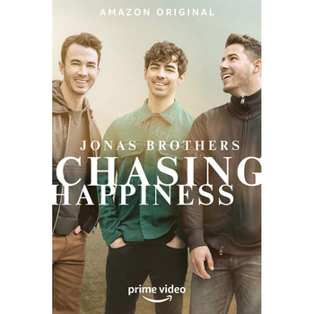L0221 Jonas Brothers' Chasing Happiness Movie Silk Fabric Poster Art Decor Indoor Painting Gift image