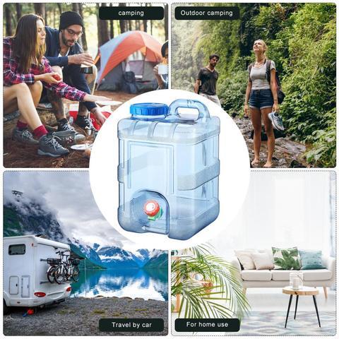 de agua portatil com torneira para acampamento caminhadas