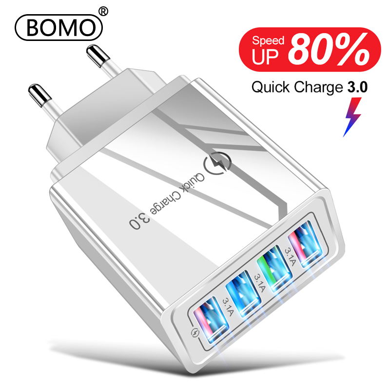 USB Charger Quick Charge 3.0 for Iphone 12 Pro Max 12 Mini Samsung S10 Xiaomi Charger Adapter for Smartphones Fast Charging