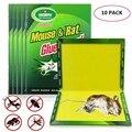 10 pcs Bordo Do Mouse Pegajosa Ratos Roedor Rato Glue Armadilha de Alta Eficaz Cobra Apanhador de Insetos Controle de Pragas Rejeitar Não- tóxico