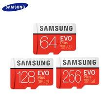 SAMSUNG-tarjeta de memoria 100% Original, 256GB, 512GB, alta velocidad, 100 MB/S, microSD Clase 10, U3, UHS-I, EVO PLUS, 128G, 64GB, TF