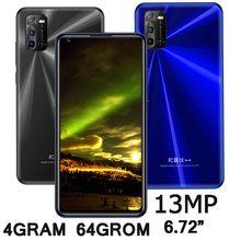 6.72 inç not 8T akıllı telefonlar 4G RAM + 64G ROM 8MP + 13MP HD ekran ön/arka kamera Android cep telefonları celulares yüz Unlocked