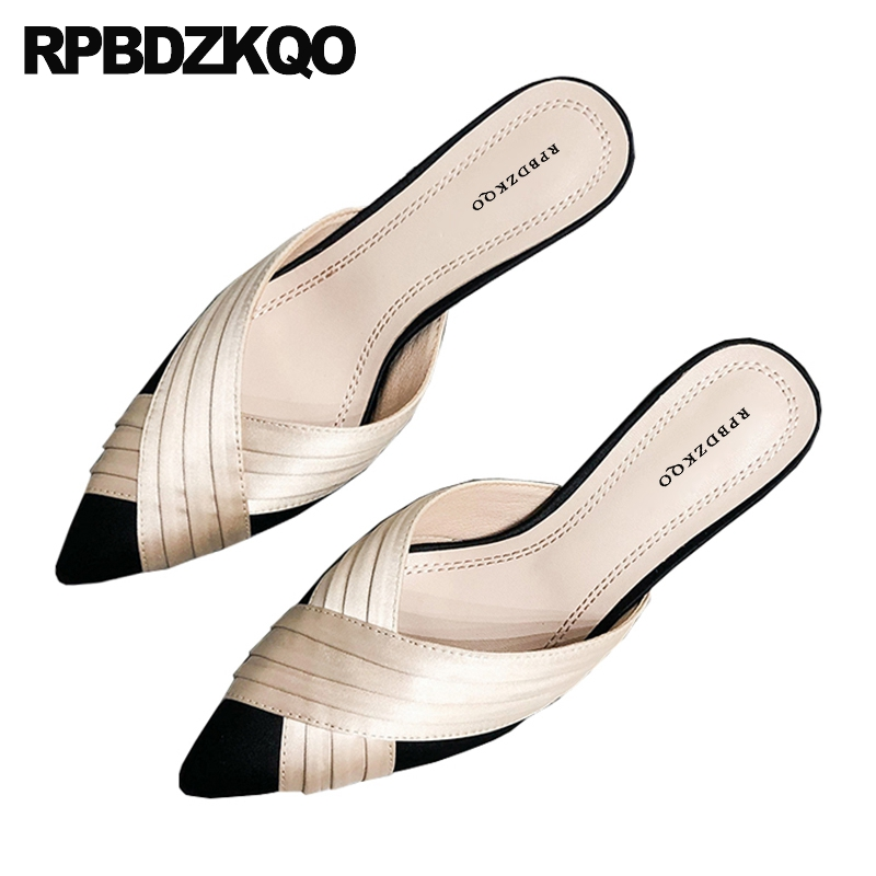 Shoes Stiletto Suede Pumps Scarpin Italian High-Heels Sandals Satin Pointed-Toe Black