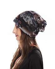 2019 Ear Warm Casual Loose Hip Hop Print Man Women Fall Winter Skullies Beanie Hat Cap Elastic Fashion Accessories-XMC-W6