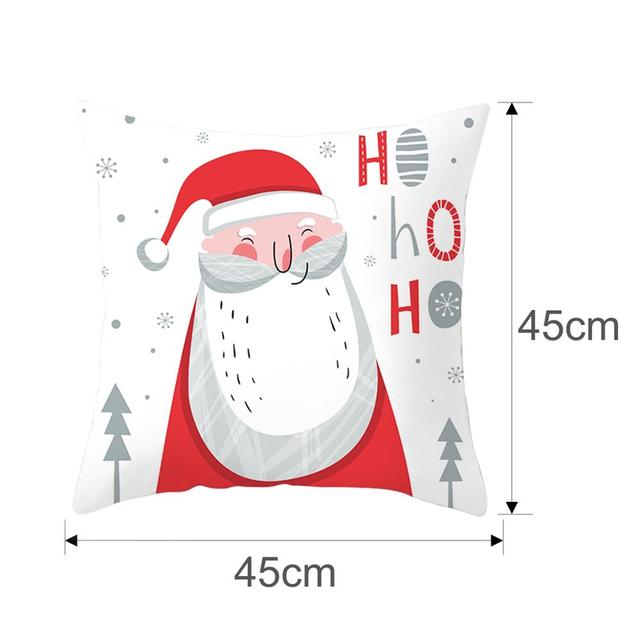 FENGRISE Merry Christmas Decor For Home Santa Claus Elk Pillowcase Christmas Ornament 2019 Navidad Xmas Gift Happy New Year 2020 4