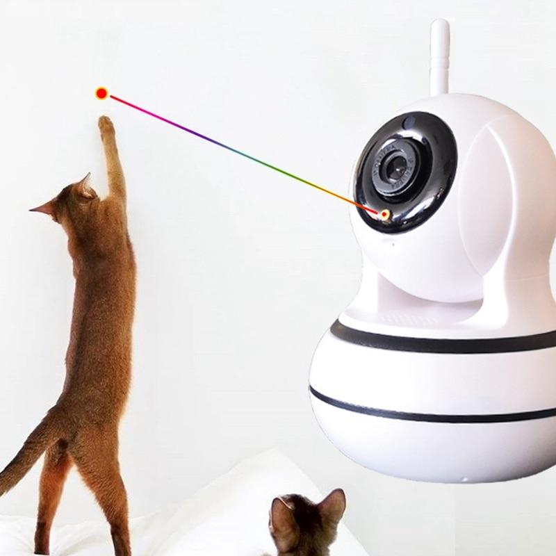 Chat créatif animal de compagnie Led jouet drôle Intelligent automatique chat sport formation divertissement jouets multi angle réglable moniteur chat - 2