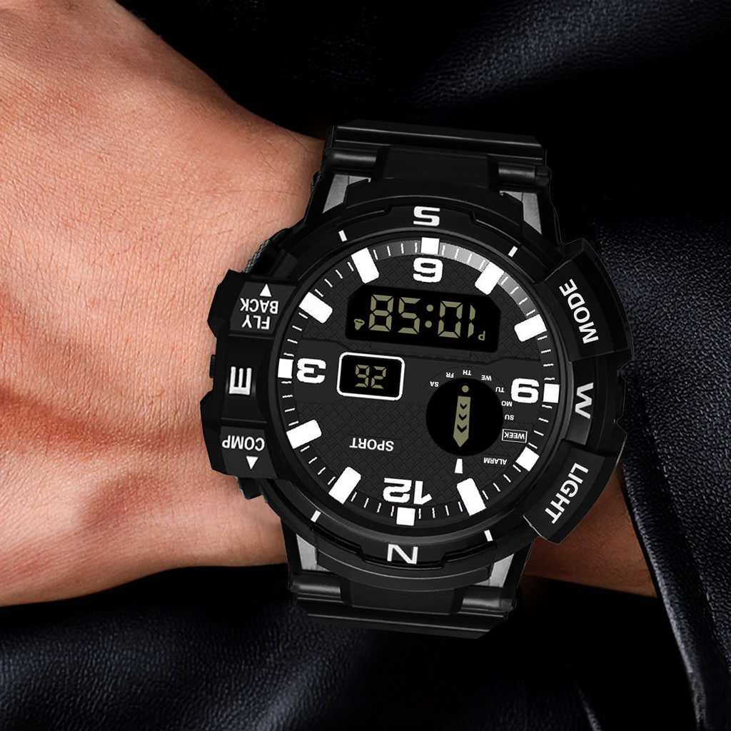 Man watch Reloj hombre HONHX Luxury Mens Digital LED Watch Date Sport Men Outdoor Electronic Watch Montre homme Zegarek męski@11