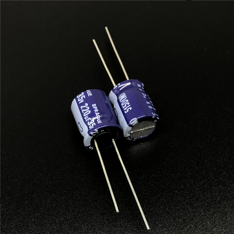 10Pcs 220uF 35V SPRAGUE 515D Series 10x13mm 35V220uF High Quality Audio Capacitor Aluminum Electrolytic Capacitor