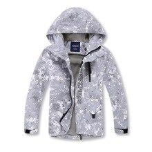 Gri kamuflaj sıcak polar çocuk ceket su geçirmez erkek ceketler çocuklar kıyafetler çocuk giyim sonbahar erken kış 110 150cm