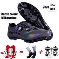 2020 nova mtb sapatos de ciclismo profissional mountain bike respirável tênis de corrida de bicicleta auto bloqueio sapatos de ciclismo|Sapatos de ciclismo|Esporte e Lazer -