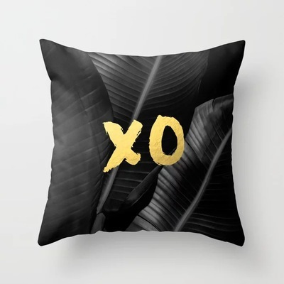 Black Tropical Cushion Cover  3