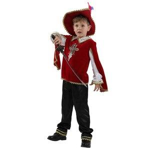 Image 2 - أطفال طفل أحمر القرون الوسطى الفارس زي اليونانية الرومانية المحارب فارس ازياء للبنين هالوين كرنفال ماردي غرا فستان بتصميم حالم