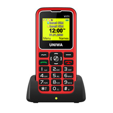 For Elderly Man 2G Feature Phone UNIWA V171 GMS Mobile Phone Wireless FM 1000mAh