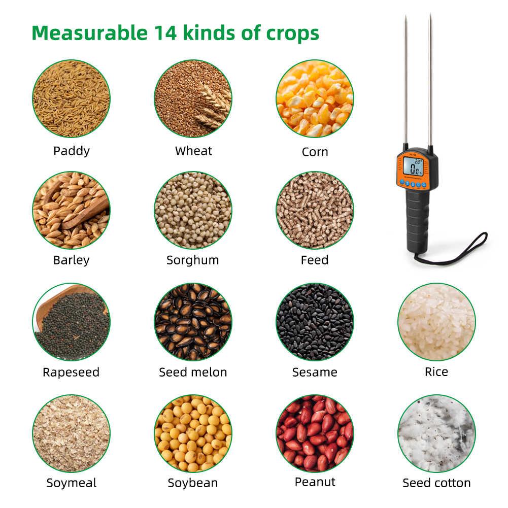 Новинка, цифровой измеритель влажности зерна 0.1%, высокоточный зернистый хлопок, зернистость, температура детской