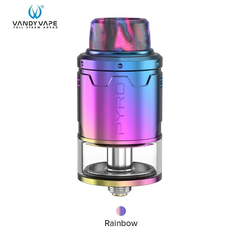 Vandy vape Пиро V3 RDTA майка с 5 шт./упак. для детей возрастом от 4 мл/2 мл Ёмкость 0.33ohm Совместимость Vandyvape коробка мод электронная сигарета - Цвет: Rainbow