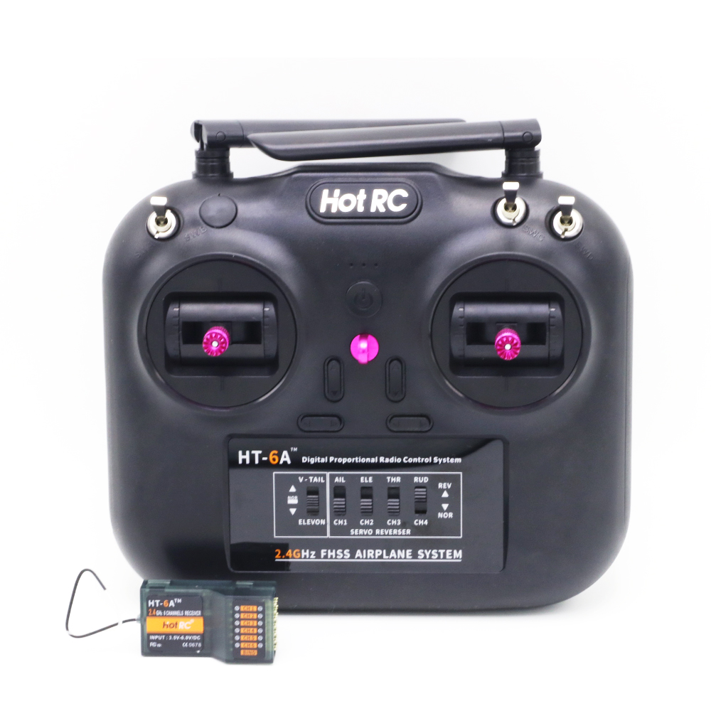 Hotrc HT-6A 2.4G 6CHTransmitter Remote Control With MC6C Receiver For RC FPV Racing Drone