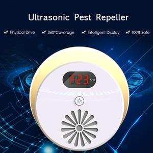 Image 5 - קולי פשט Repeller אלקטרוני יתושים עכבר רוצח באג עכברוש עכביש מקק דוחה חרקים עם LCD תצוגה AC110 ~ 240V