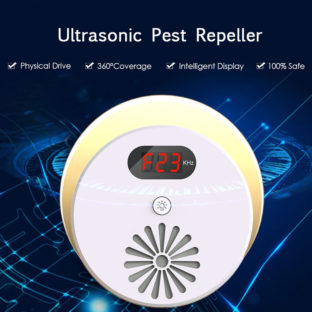 Image 5 - Ultrasonic Pest Repeller Electronic Mosquito Mouse Killer Bug Rat Spider Cockroach Insect Repellent with LCD Display AC110~240V-in Repellents from Home & Garden