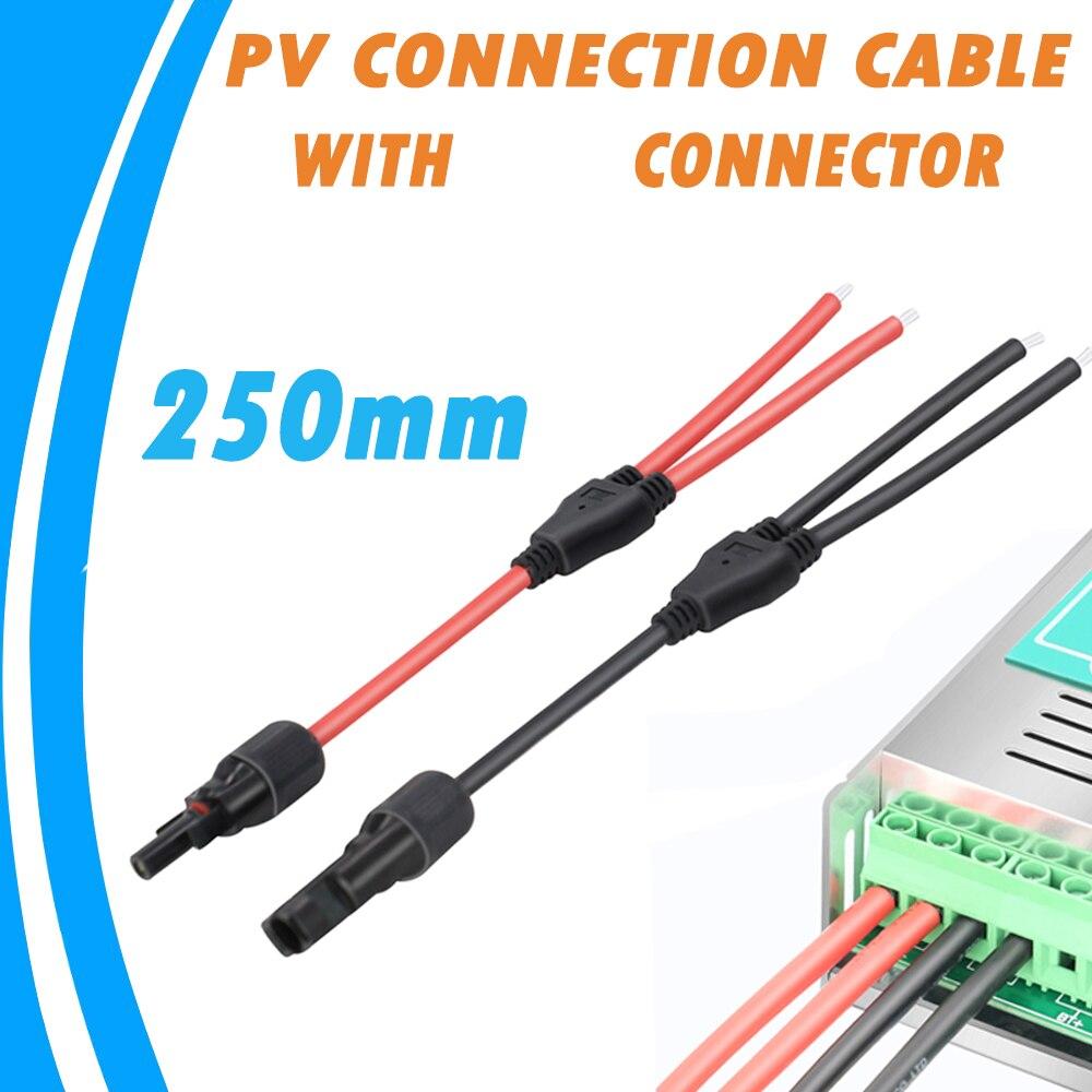 O cabo terminal da conexão do painel solar de 250mm com o conector fêmea masculino do ramo de y pode ser usado com o controlador solar de powmr mppt