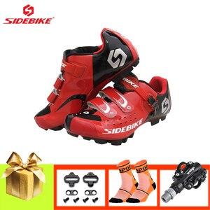 SIDEBIKE/Мужская обувь; sapatilha ciclismo mtb; Женская обувь для велоспорта; Кроссовки для горного велосипеда с педалями; Дышащая нескользящая обувь