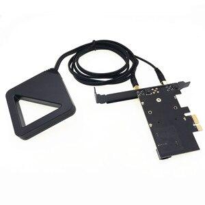 Image 4 - Con antena externa Chipset Intel 9260 AC 9260AC 9260NGW MU MIMO Bluetooth 5,0 1730Mbps PCI E PCIe 1x X1 tarjeta de escritorio