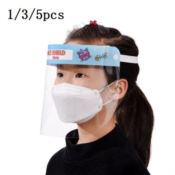 1/3/5pcs Child All-Purpose Face Shield Protective Mask Anti-Saliva Protective Hat Transparent Protective Face Mask Protect Safet