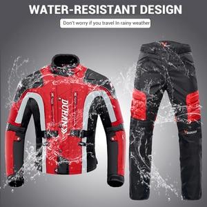 Image 4 - DUHAN Chaqueta de motocicleta resistente al frío, traje de moto para otoño e invierno, equipo de protección y ropa de paseo