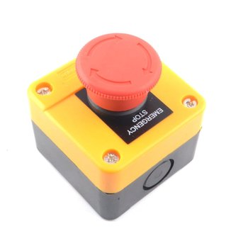 Pit elevator emergency stop switch stop ST0P stop switch button box normally open and normally closed NO+NC|AC/DC Adapters| |  -