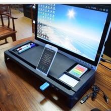 Desk-Holder Shelf Laptop-Stand Multi-Function Computer-Screen-Riser Notebook-Tv for Wood