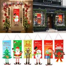 1set Frohe Weihnachten Veranda Tür Banner Hängen Ornament Weihnachten Dekoration Für Home Weihnachten Natal Noel 2020 Frohes Neues Jahr 2021