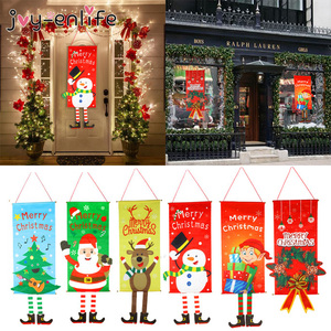 1set Merry Christmas Porch Door Banner Hanging Ornament Christmas Decoration For Home Xmas Natal Noel 2020 Happy New Year 2021