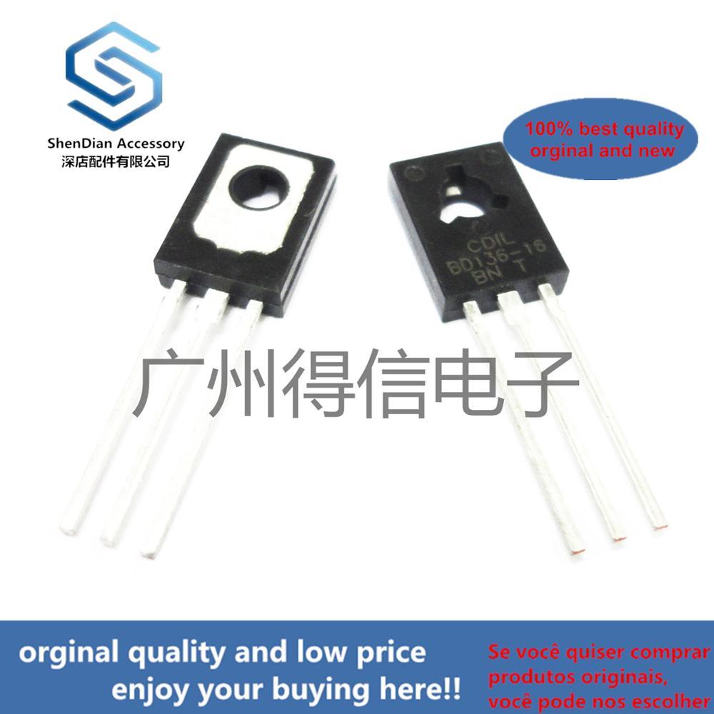 10pcs 100% Orginal New BD136 136 TO-126 PNP Power Transistors Real Photo