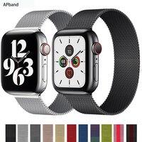Strap Für Apple uhr band 44mm 40mm iWatch 42mm 38mm edelstahl Metall armband magnetische schleife apple uhr 3 4 5 6 se