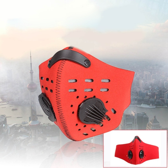 Hot 1pcs Bike Face Cover Mask With Filter Unisex Sport Mouth Cover Respirator Mask Dust Windproof Masks Cycling Riding Facemask 3