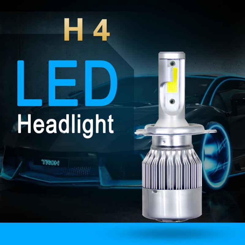 Car LED Headlight Kit H4 HB2 9003 72W 8000LM COB Car LED Headlight Hi/Lo Beam Bulbs Kit 6000K White Lamp Car Accessories