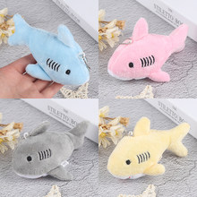 12CM Cute Simulation Shark Plush Key Chain Pendant Toys Soft Cartoon Whale Stuffed Doll Backpack Keychain Bag Pendant Kids Gifts(China)