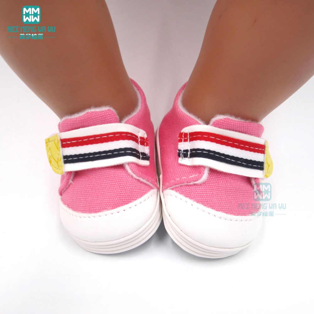 Pop schoenen voor pasgeboren pop accessoires en 45cm Amerikaanse pop mode rode Rubber sportschoenen