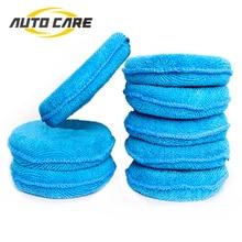 Zacht Microfiber Auto Wax Applicator Pad Polijsten Spons Voor Brengen En Verwijderen Wax Auto Care 4 Stuks Of 8 Stuks voor Keuze