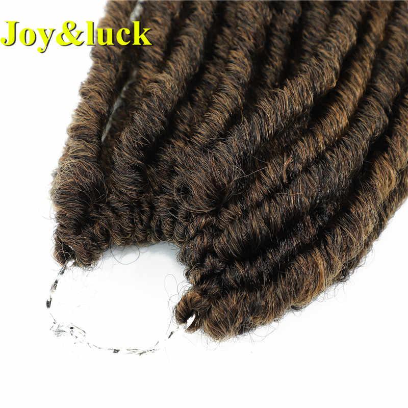 الفرح و الحظ 18 بوصة طويلة الاصطناعية إلهة فو Locs الكروشيه الضفائر الشعر أومبير اللون تجديل وصلات شعر للنساء