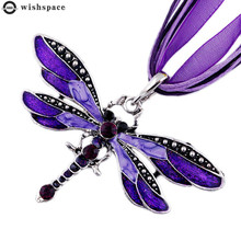 The new popular hot style dragonfly alloy pendant necklace female accessories wholesale