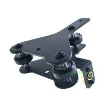 3D drucker teile Creality CR 10 S4/S5 X achse motor halterung rechts/links X achse Vorne /zurück Motor mount Platte mit räder muttern