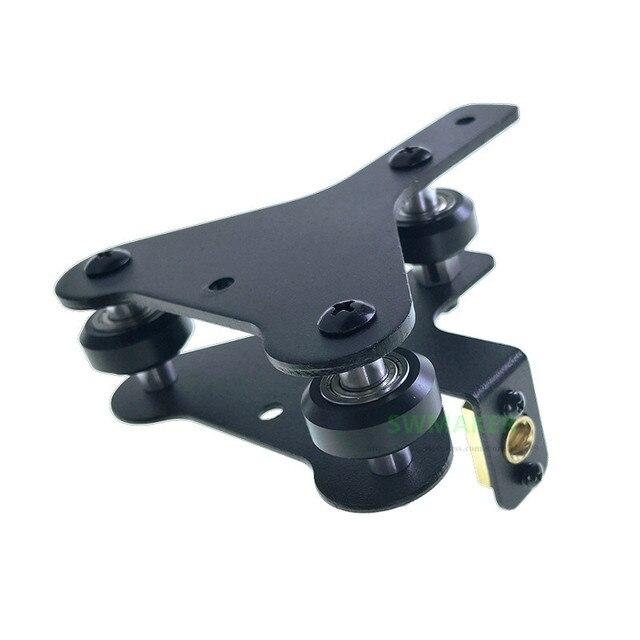 Creality CR 10 S4/S5 support de moteur pour imprimantes 3D, plaque de montage de moteur pour axes X droit/gauche/arrière avec roues, écrous