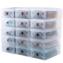 10 шт. прозрачные пластиковые обувные коробки коробка для хранения обуви складной чехол для обуви прозрачный органайзер для обуви чехол s коробки