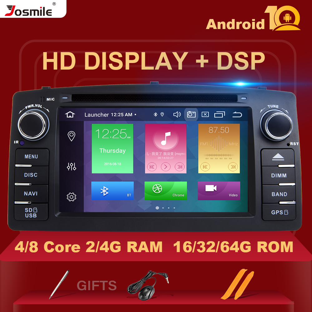 DSP 4GB 64G 2 din Android 10 Car DVD Player For Toyota <font><b>Corolla</b></font> <font><b>E120</b></font> BYD F3 2 Din Car Multimedia Stereo GPS AutoRadio Navigation image