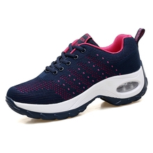 Women Flat Toning Shoes Outdoor Ladies Heightening Rocking Shoes Blue Wine Women Body Shaping Wedge Sneakers Fitness Trainer